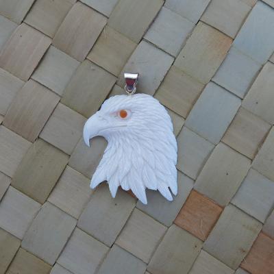 Eagle Yellow Eye Bone Pendant Beautiful Bone Pendant Bone Carving Bali Unique Handmade Jewelry